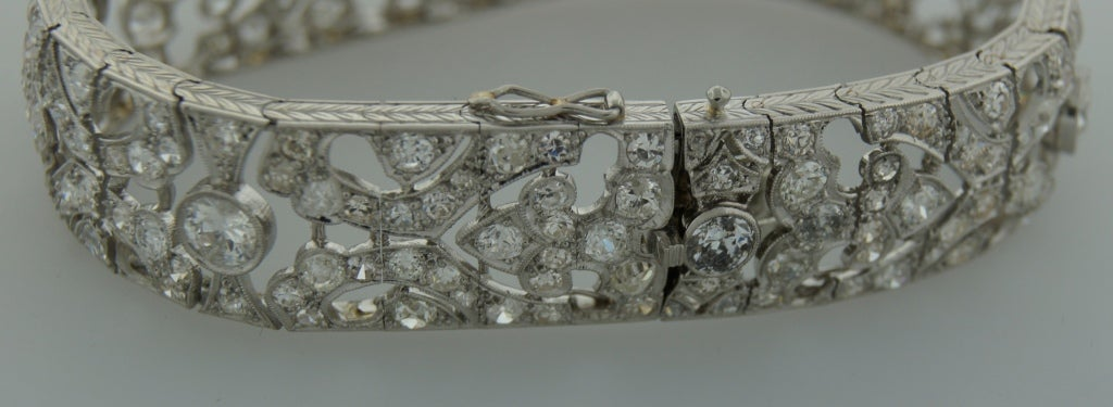 1920s Fontana Art Deco Diamond Platinum Bracelet 5
