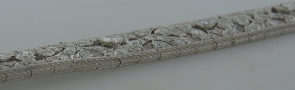 1920s Fontana Art Deco Diamond Platinum Bracelet 7