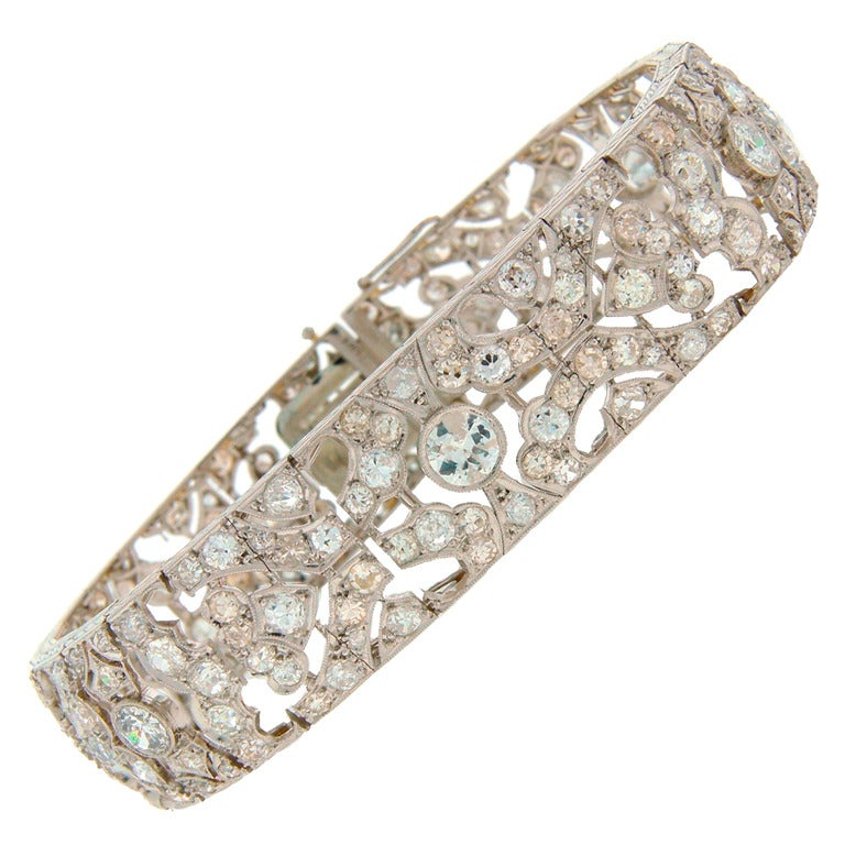 1920s Fontana Art Deco Diamond Platinum Bracelet 1