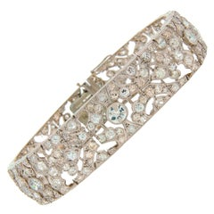 1920s Fontana Art Deco Diamond Platinum Bracelet