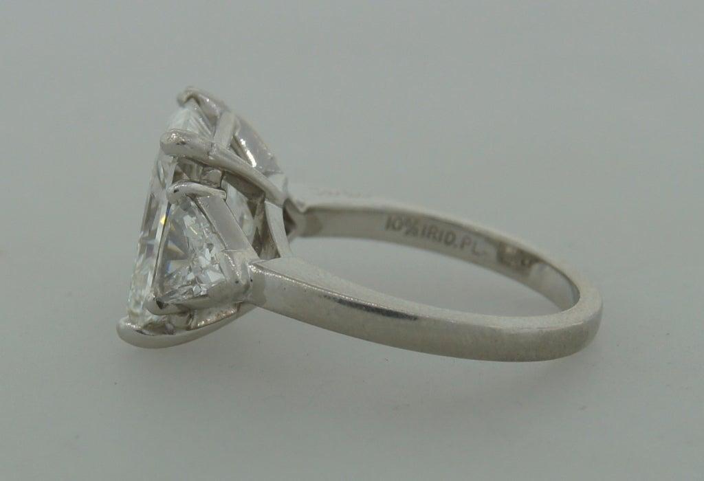 Women's Cartier Diamond Platinum Three-Stone Ring GIA Certificate For Sale