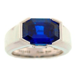 CARTIER Natural Sapphire Diamond & Platinum Ring