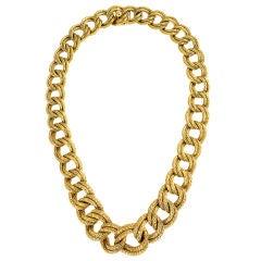 VAN CLEEF & ARPELS Gold Curblink Necklace