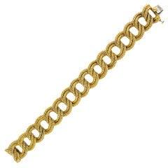 VAN CLEEF AND ARPELS Woven Curblink Bracelet
