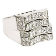 Edwardian Three Stone Diamond Ring At 1stdibs