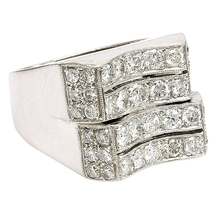 Retro Diamond Ring At 1stdibs