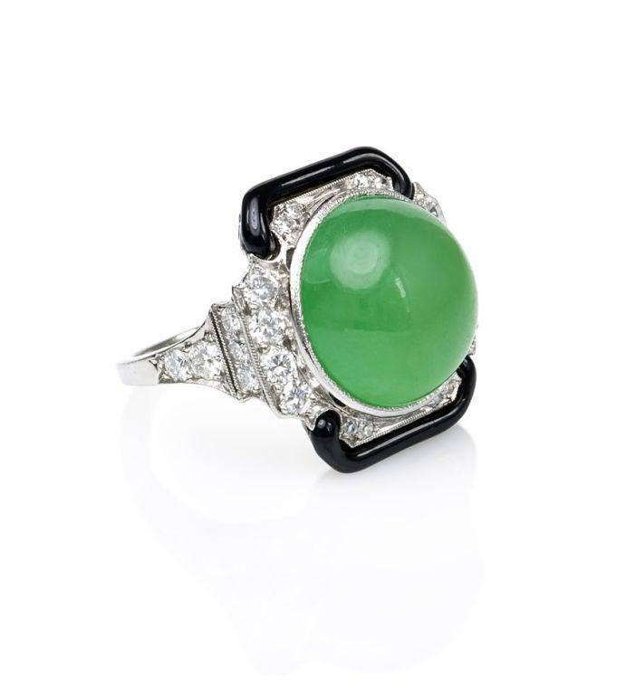 Tiffany And Co Jade And Enamel Ring At 1stdibs