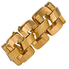 Retro Rose Gold Tank Bracelet