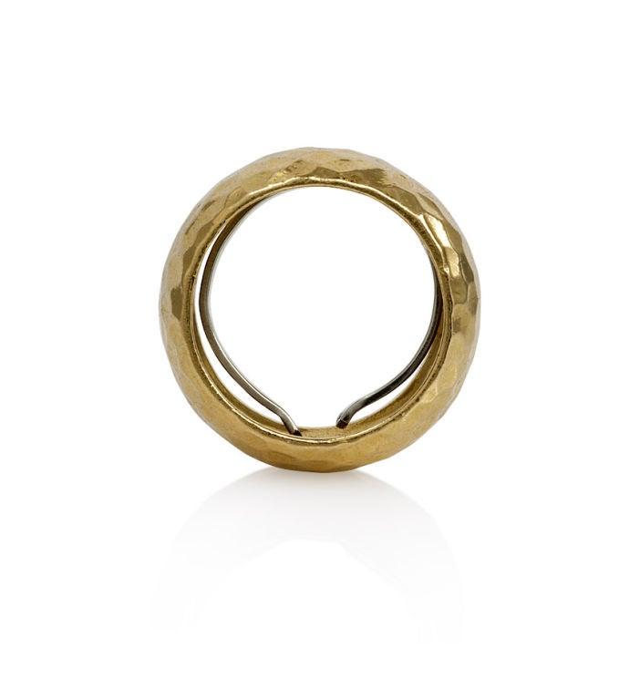 david webb hammered gold bombe ring at 1stdibs