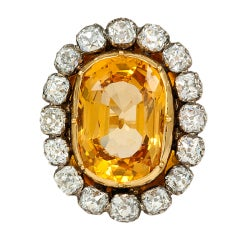 Victorian Topaz Diamond Ring