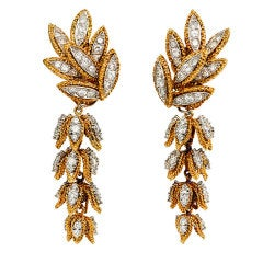 VASSORT Paris Diamond Gold Day-to-Night Earrings