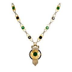 Antique Jewel Bib Necklace At 1stdibs