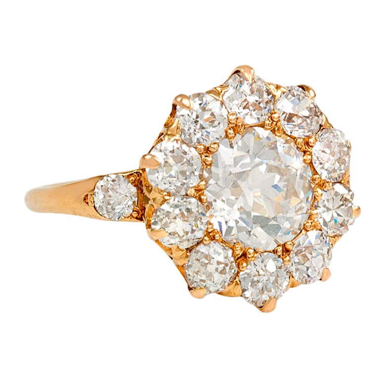 antique cluster ring at 1stdibs