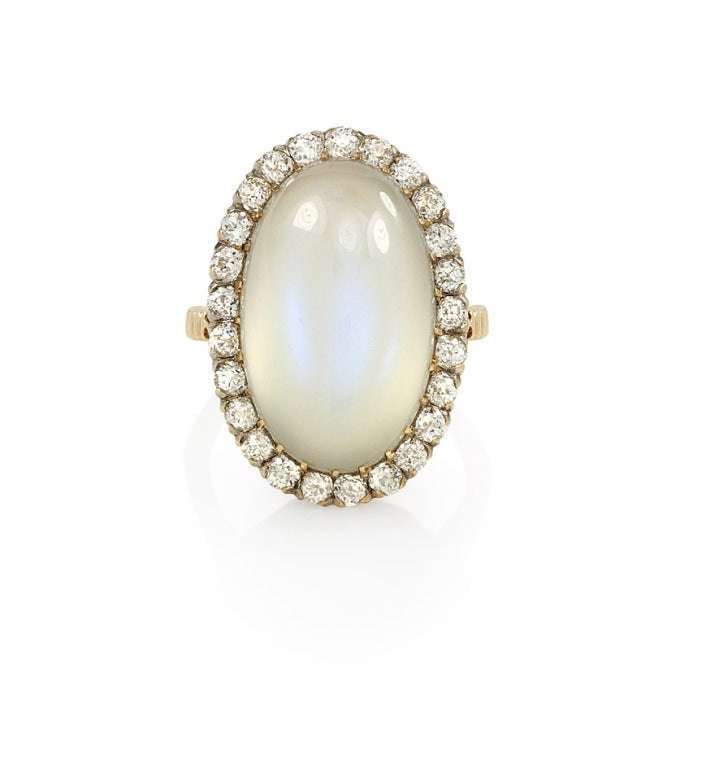 antique moonstone and ring at 1stdibs