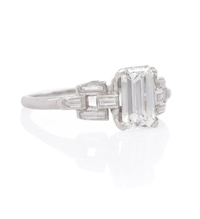 Art Deco Diamond Engagement Ring 2