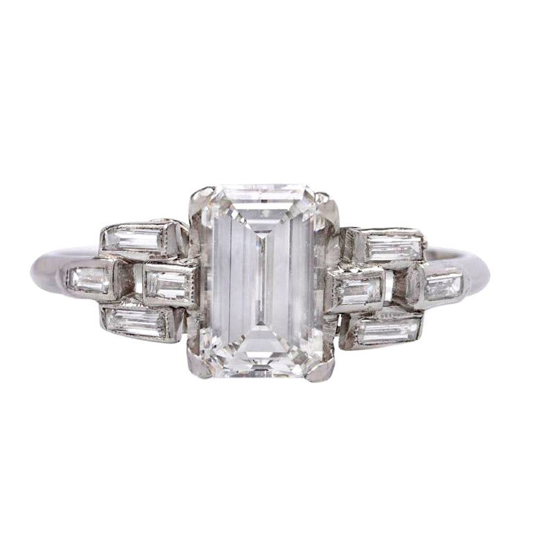 Art Deco Diamond Engagement Ring 1