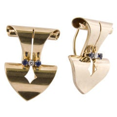 Great Pair of 1940's Dress Clips