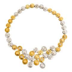Handmade  Geometric Diamond Necklace