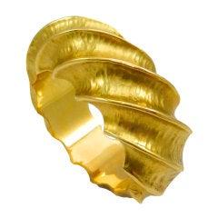 Flutted Gold Bangle