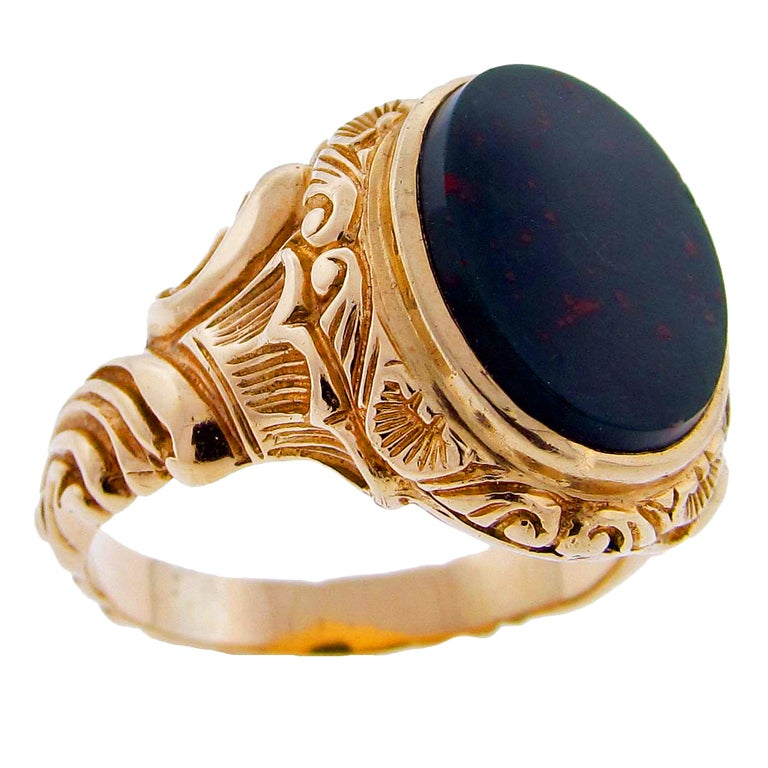 Victorian Bloodstone Ring At 1stdibs