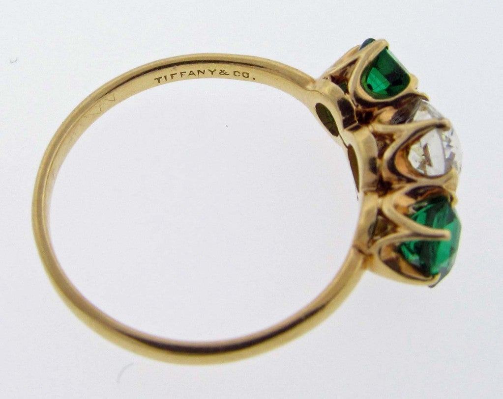 antique and co emerald and ring at 1stdibs