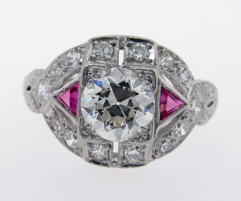 deco engagement ring at 1stdibs