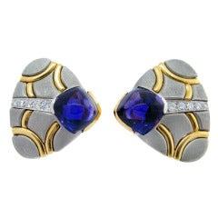 Park Place Antique Jewelry Innovative Michael Bondanza Amethyst And Diamond Earrings