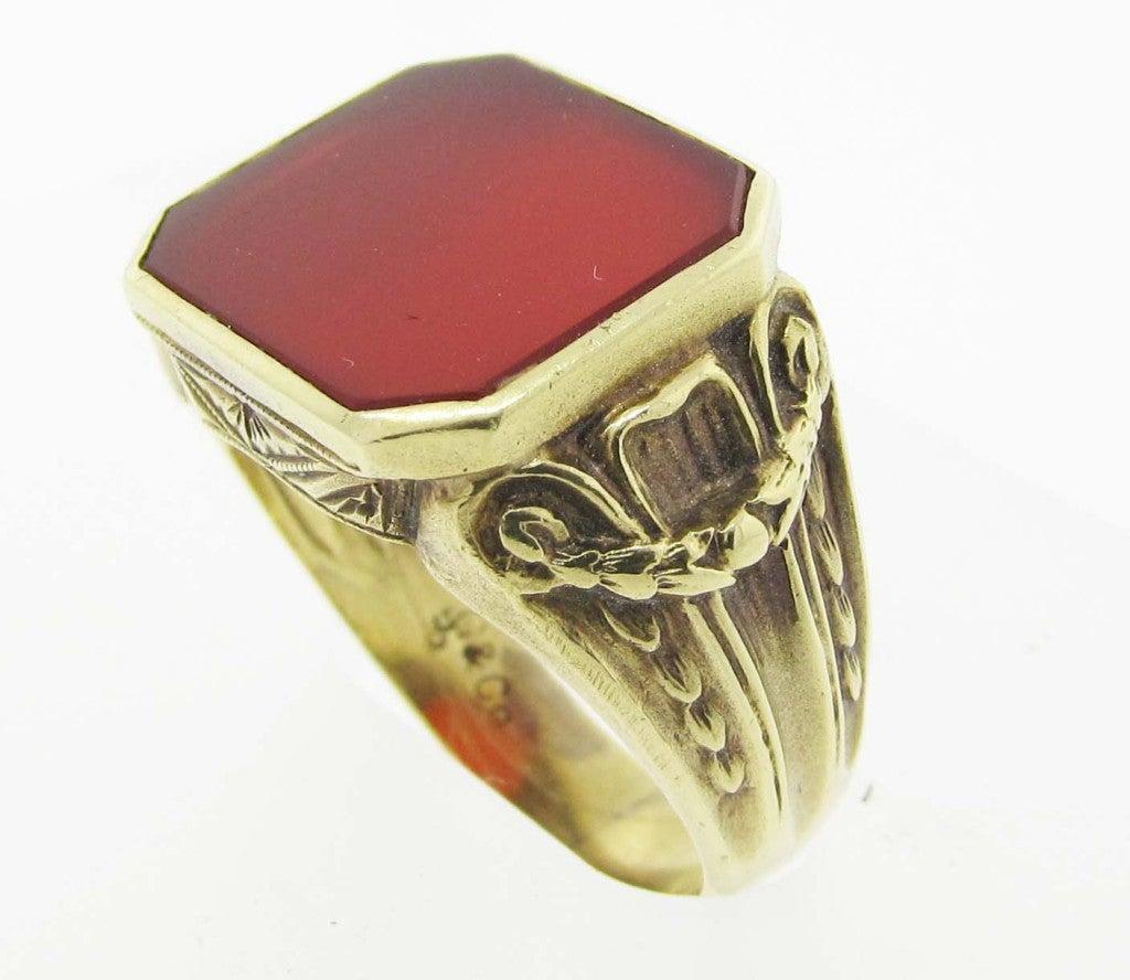 antique carnelian ring at 1stdibs