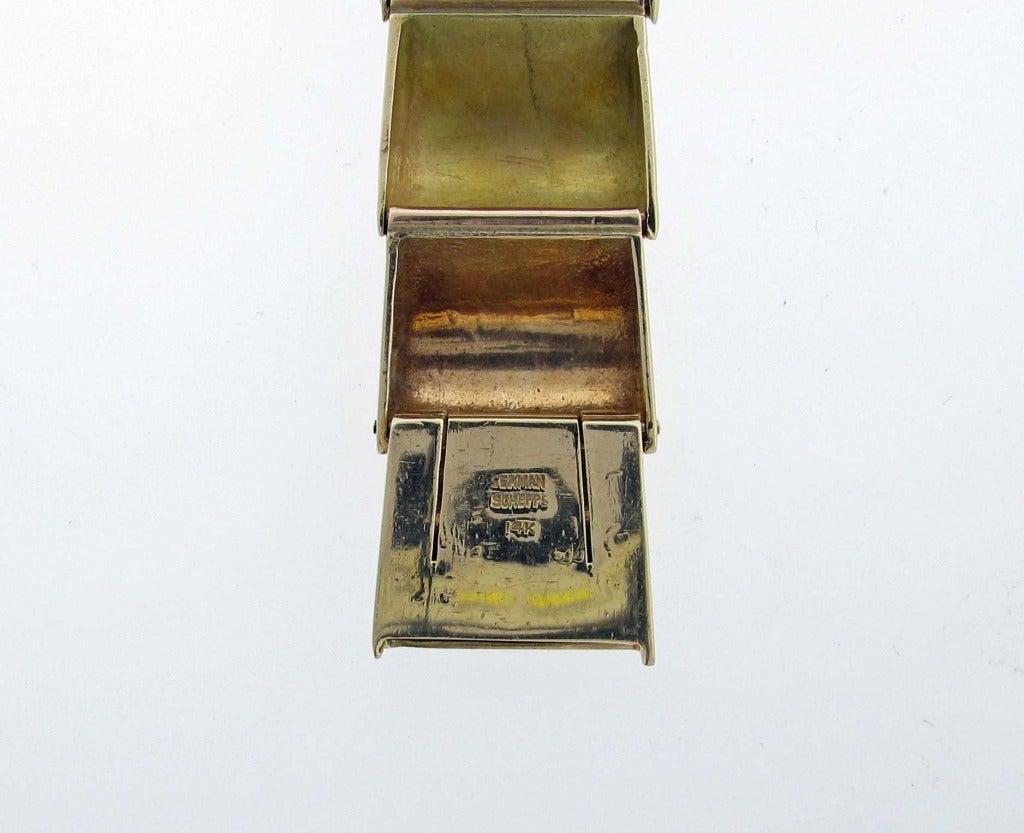 Seaman schepps retro three color bracelet watch at 1stdibs for Seamans furniture