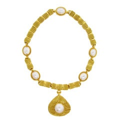 ELIZABETH GAGE Mabe Pearl Necklace and Enhancer Combination
