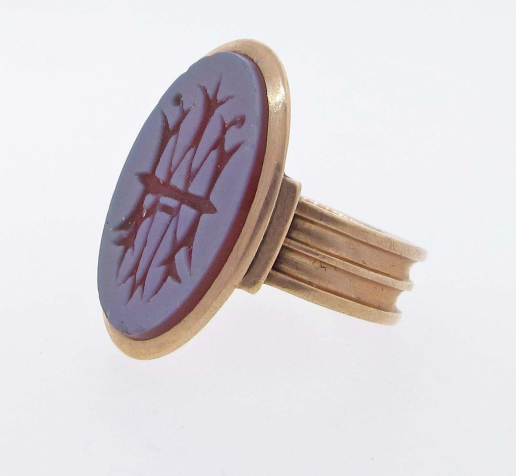 antique carnelian signet intaglio ring at 1stdibs