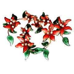 Maison Gripoix for Gabrielle Chanel Floral Spray Brooch ca.1955