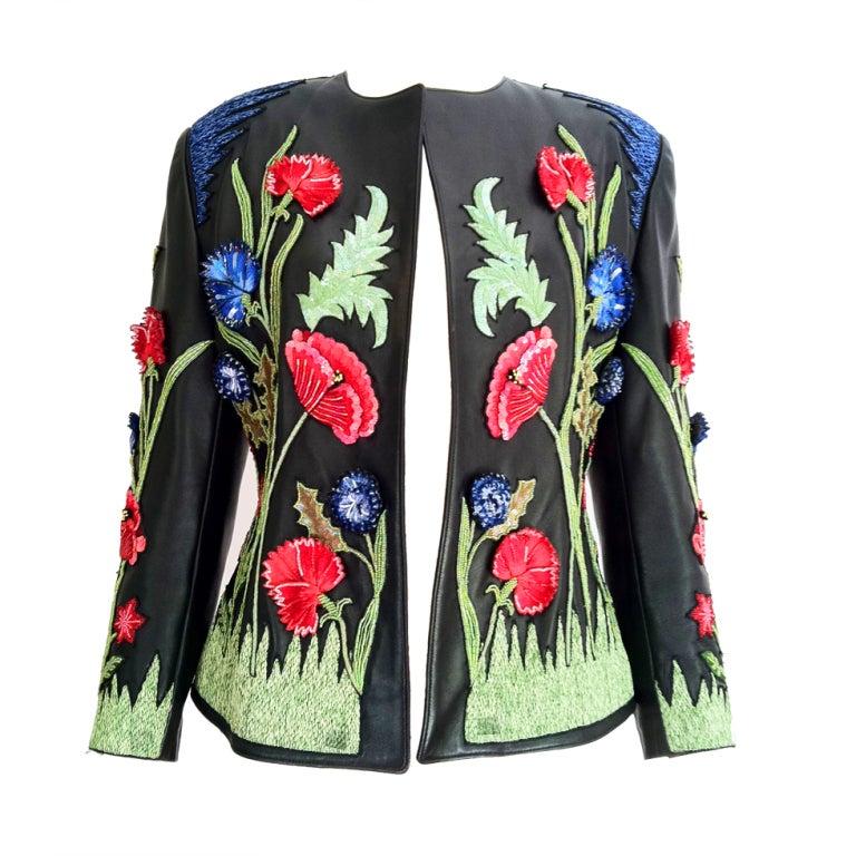 Jean claude jitrois haute couture lasage beaded jacket for Haute couture jacket