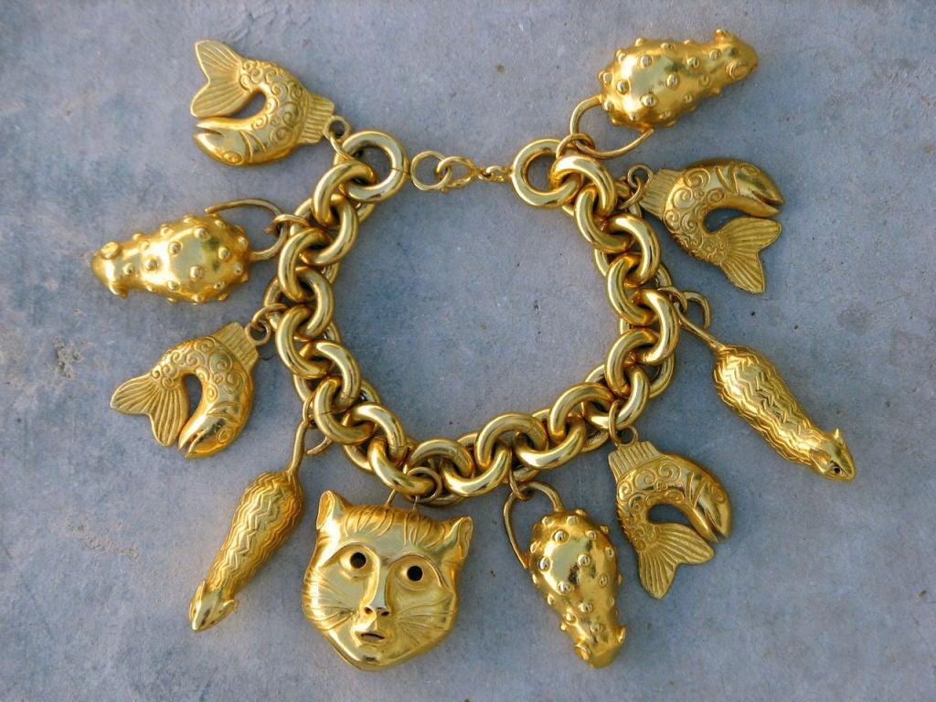 a9a373aaa Chanel Vintage Charm Bracelet At 1stdibs · Wonderfully Rare Vintage Charm  Bracelet At 1stdibs: ISABEL CANOVAS 'Feline' Charm Bracelet,