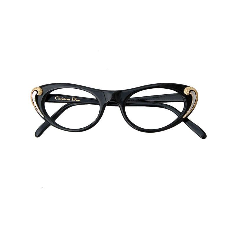Dior Glasses Frames Cat Eye : CHRISTIAN DIOR Cat Eye Frames, 1950s at 1stdibs