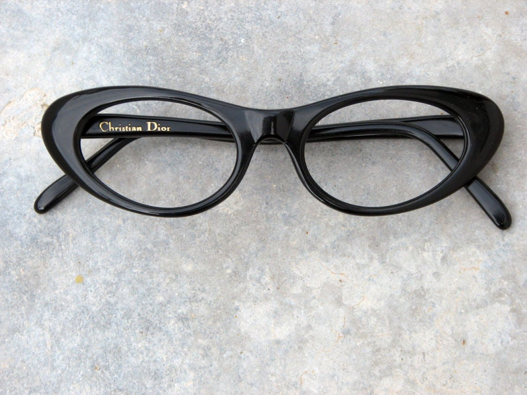 Dior Glasses Frames Cat Eye : CHRISTIAN DIOR Cat Eye Frames, 1950s at 1stdibs