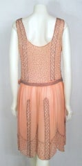 VINTAGE 1920s ROSE CHIFFON BEADED DRESS thumbnail 4