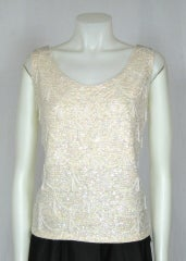 Vintage 1960  IRIDESCENT SEQUIN  TOP