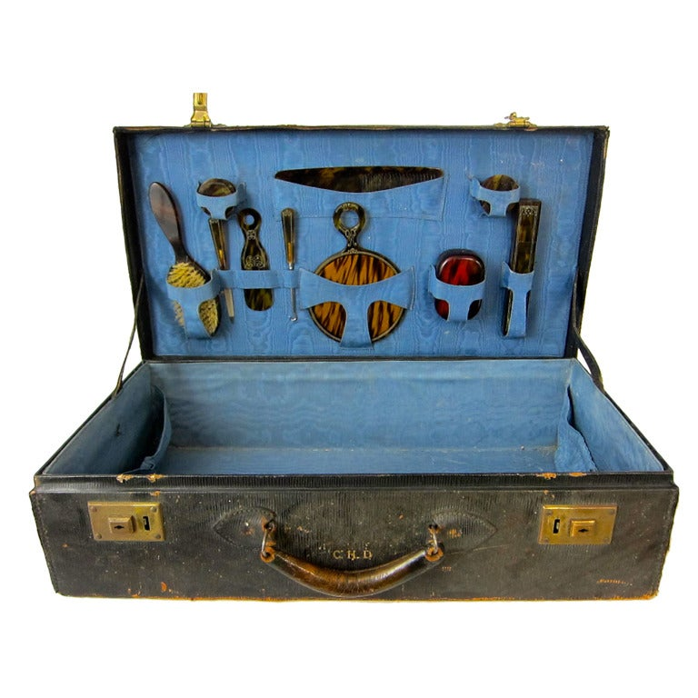 1930s Gentleman S Complete Tortoise Toiletry Travel Case
