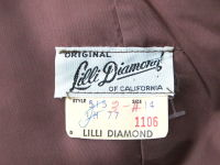 VINTAGE 1960s LILLI DIAMOND CREPE COCKTAIL DRESS FEATHER STRAPS thumbnail 7
