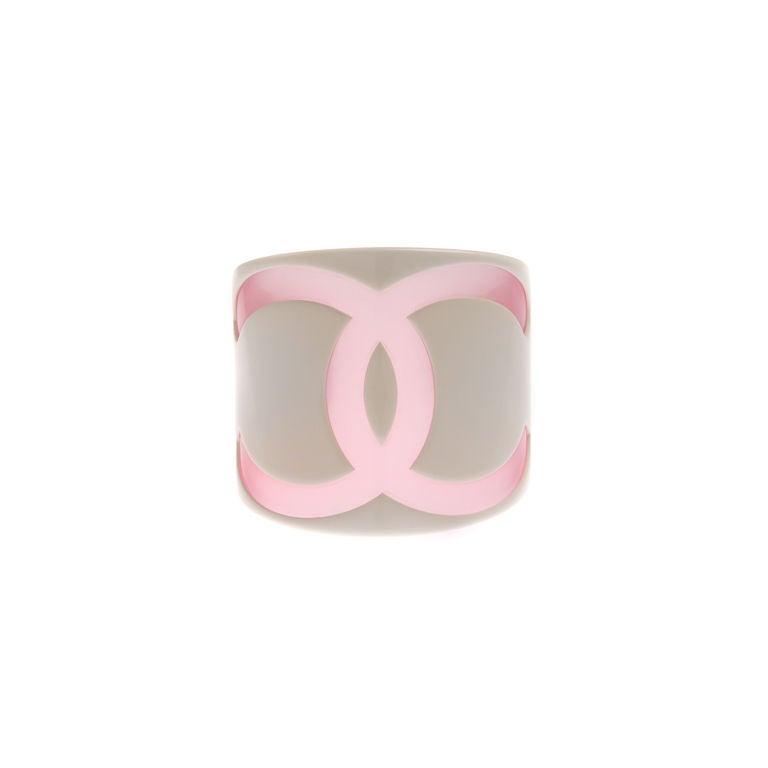Chanel Logo Resin Cuff Bracelet