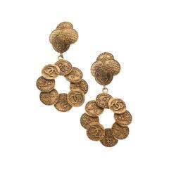 Chanel Coin Earrings