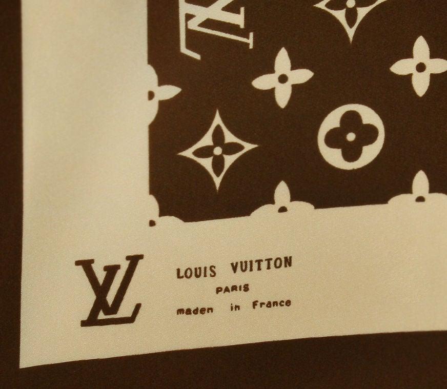 Vintage Louis Vuitton Logo Scarf image 3