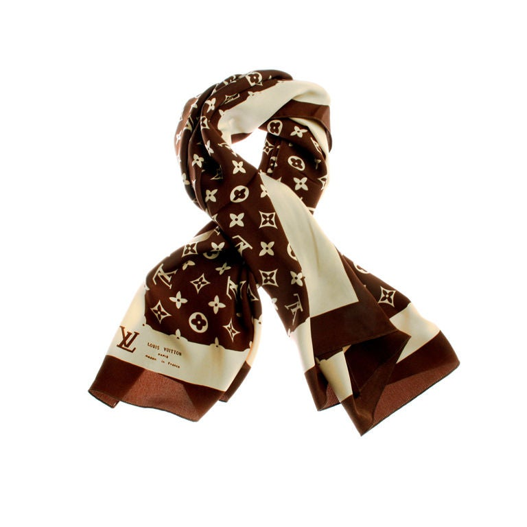 vintage louis vuitton logo scarf at 1stdibs