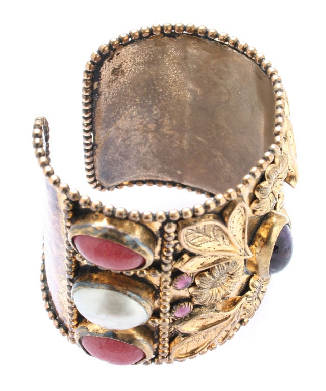 Large French Cuff with Gripoix Stones image 3