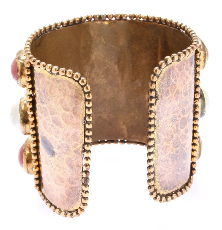 Large French Cuff with Gripoix Stones image 6