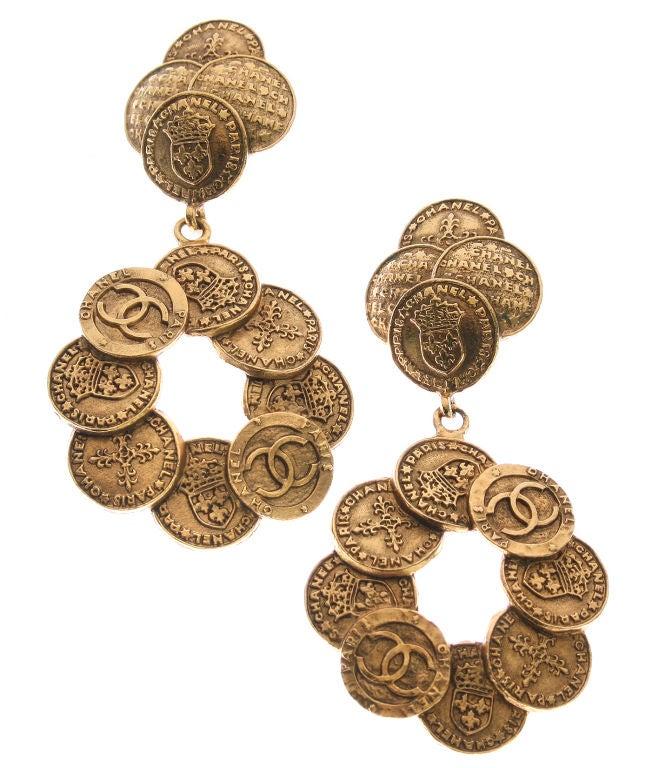 Women's Chanel Coin Earrings