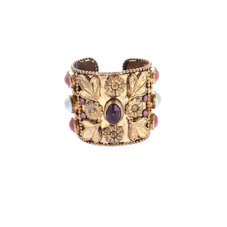 Large French Cuff with Gripoix Stones
