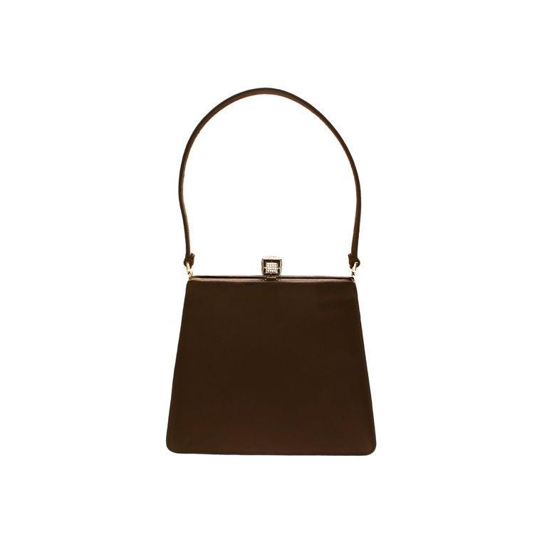 Judith Leiber Chocolate Brown Evening Bag at 1stdibs