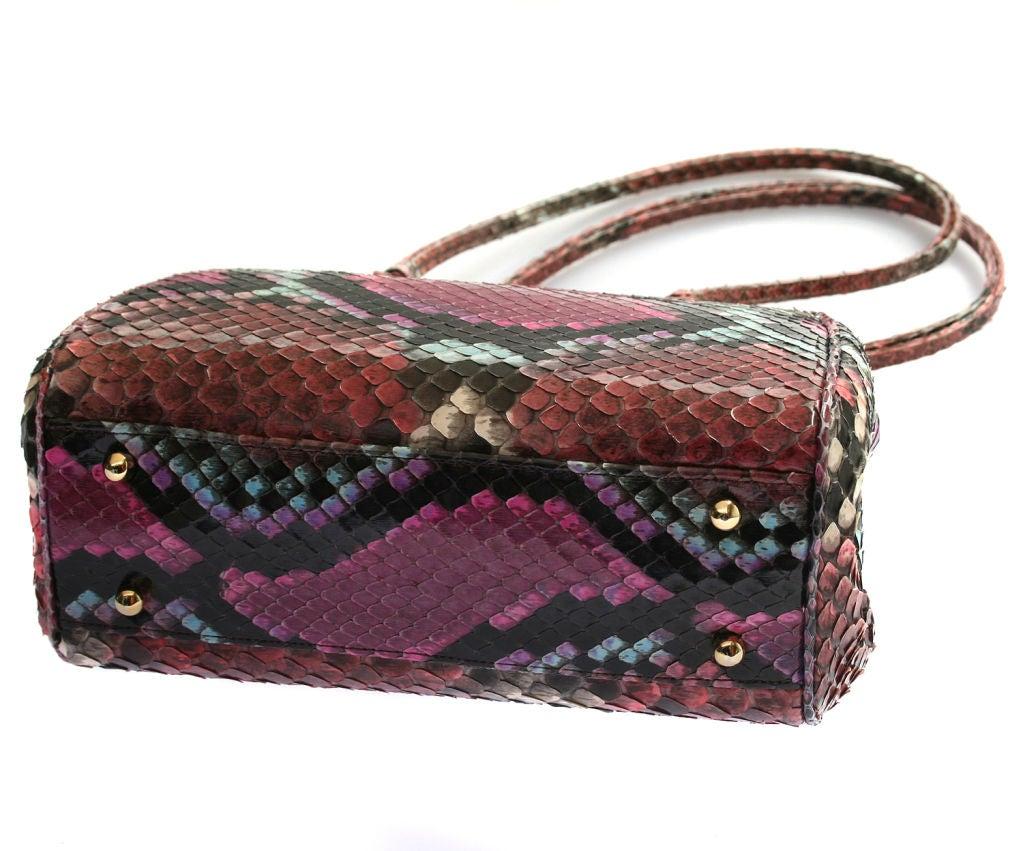 Vintage Judith Leiber Python Handbag at 1stdibs